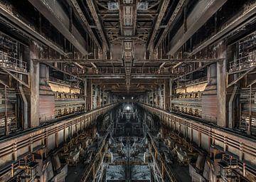 Oude verlaten staalfabriek Urbex van Olivier Photography