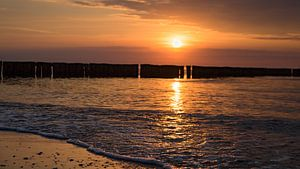 Sonnenuntergang am Ostsee strand
