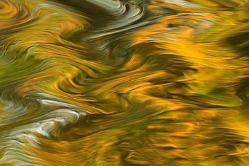 Stromend water II van Henriëtte van Golde