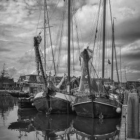 skûtsjes im Hafen von Lemmer (NL) von Mart Houtman