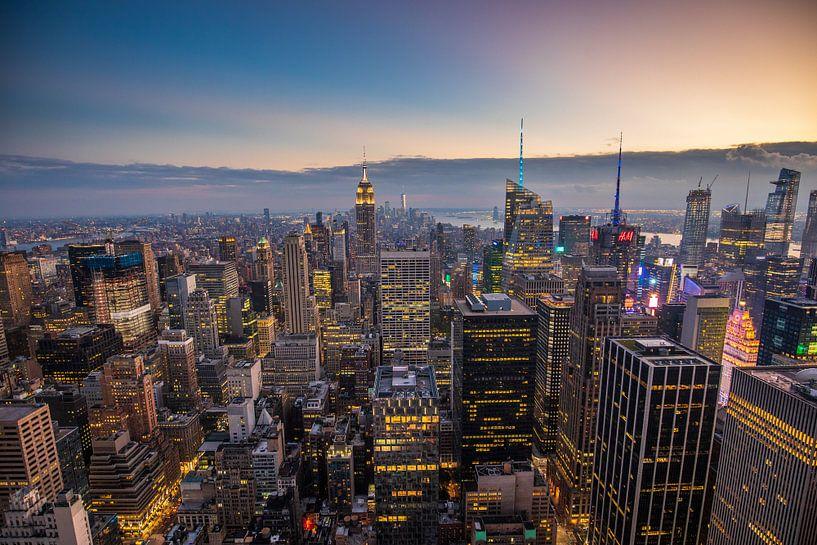 New York City Skyline van Michel van Rossum