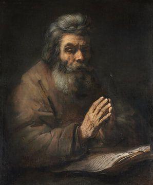 Ein älterer Mann im Gebet, Anhänger von Rembrandt van Rijn