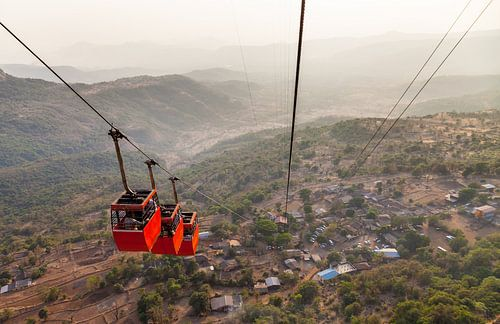Ropeway to Raigad Fort van