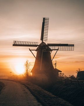 Molen Koningslaagte, Groningen, Nederland van Marion Stoffels