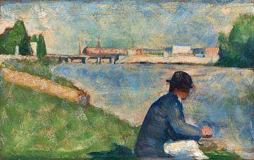 """Studie für """"Badende in Asnières"""", Georges Seurat"""