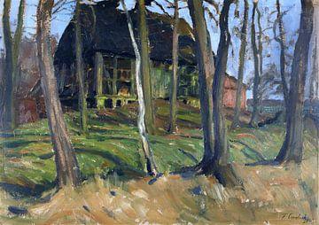 Gehöft in Weyermoor, FRITZ OVERBECK, Um 1900 von Atelier Liesjes