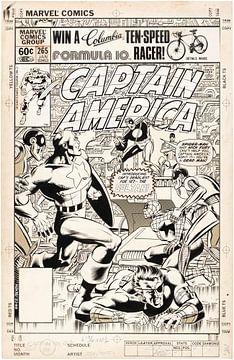 Captain America poster van Atelier Liesjes