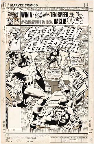 Captain America poster van Gerrie Tollenaar