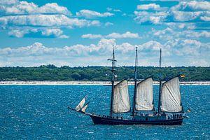Windjammer on the Baltic Sea