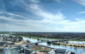 Uitzicht over de Rijn in Arnhem van