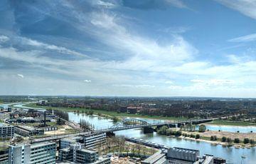 Uitzicht over de Rijn in Arnhem van Norbert Erinkveld