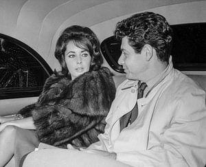 Liz Taylor with her husband Eddie Fisher