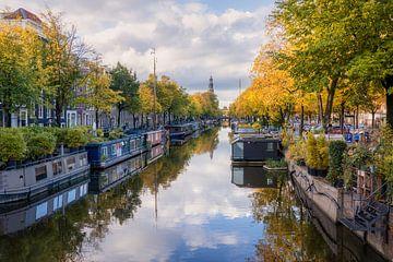 Amsterdam Prinsengracht tijdens de herft van Thea.Photo