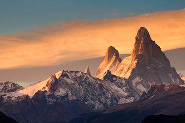Fitz Roy Mountain tijdens zonsopkomst van Ellen van Drunen
