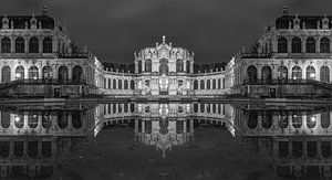 Dresdner Zwinger Panorama in schwarzweiß von Tilo Grellmann | Photography