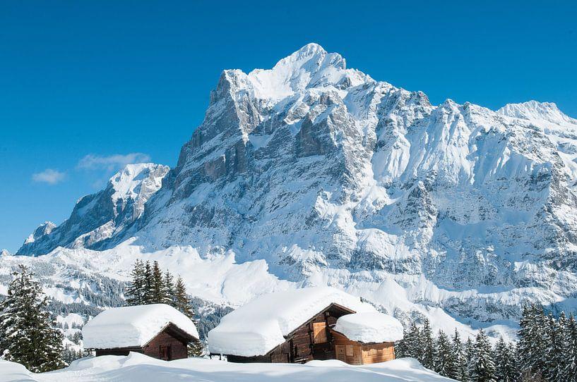 Wetterhorn in de winter van John Faber