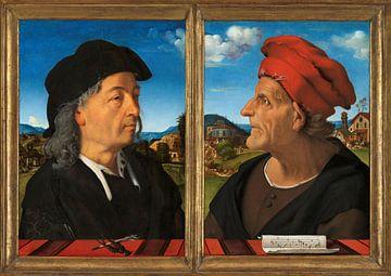 Porträts von Giuliano und Francesco Giamberti da Sangallo, Piero di Cosimo