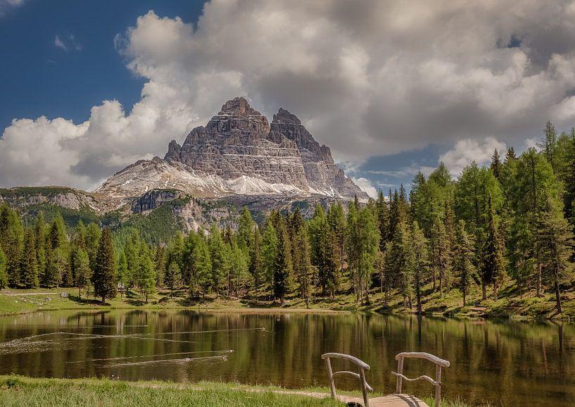 Meer d'Antorno Dolomiten Italië Zuid Tirol van Twan van den Hombergh