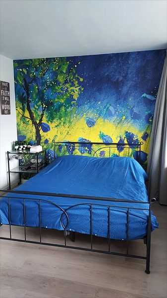 Klantfoto: Blauwe klaprozen 44 van pol ledent