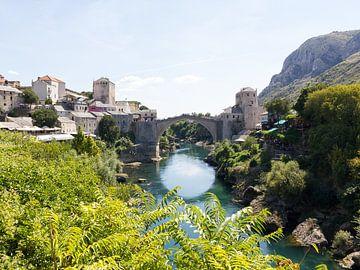 Stari Most Brug in Mostar - Bosnie Herzegovina van MDRN HOME