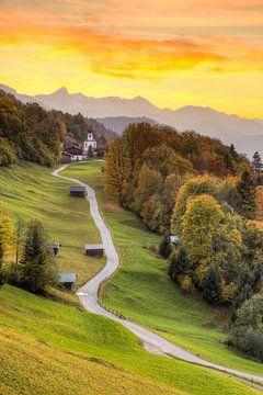 Herbst in Wamberg in Bayern von Michael Valjak