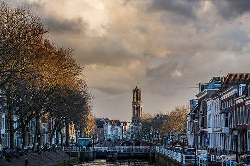 Uitzicht op de Bemuurde Weerd en de Domtoren in Utrecht.