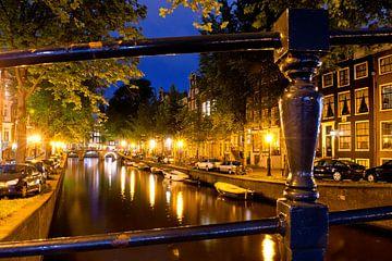 Gracht bij nacht, Amsterdam sur martien janssen