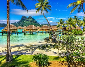 Exotique Bora Bora (carré) sur Ralf van de Veerdonk