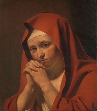 Biddende vrouw - Caesar Boëtius van Everdingen