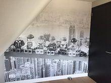 Klantfoto: Lunch atop a skyscraper Lego edition van Marco van den Arend, op behang