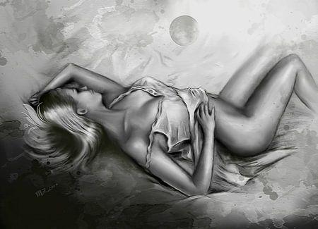 Schlafende Venus - erotische Kunst