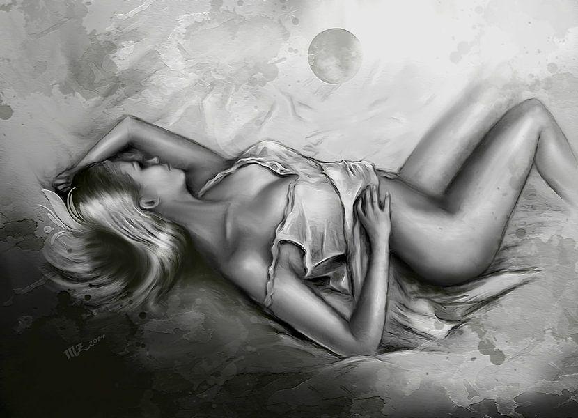 Schlafende Venus - erotische Kunst Poster - Marita Zacharias ...