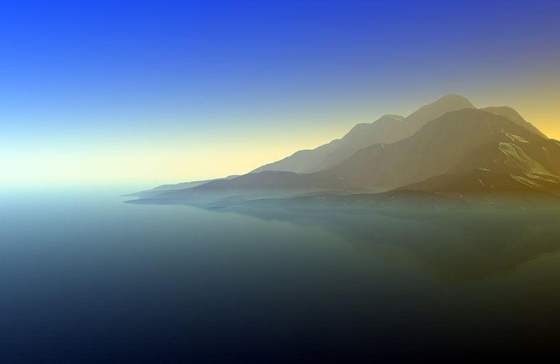 Coucher de soleil dans les montagnes 10 van Angel Estevez