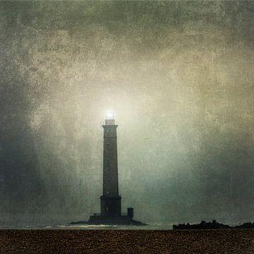 Vuurtoren Cap de la Hague in de mist