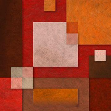 Abstraktion 2 orange rot von Everards Photography