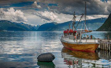 vissersboot in sognefjord van Compuinfoto .
