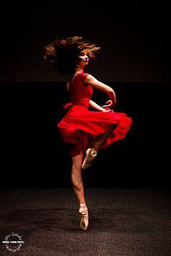 Dans in rood van Alex Spinder
