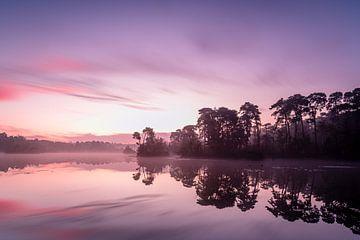 Magische zonsopkomst bij Oisterwijk van Gijs Rijsdijk
