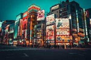 Des panneaux d'affichage colorés à Akihabara