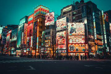 Des panneaux d'affichage colorés à Akihabara sur Mickéle Godderis