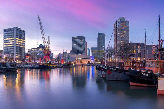 Leuvenhaven tijdens zonsondergang van Prachtig Rotterdam