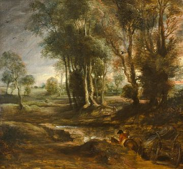 Abendlandschaft mit Holzkarren, Peter Paul Rubens