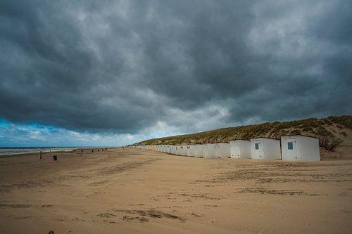Strandhuisjes op Texel van