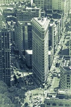 Flat Iron Building, Manhattan, New York City van Hans Wijnveen