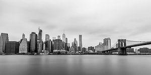 Skyline Lower Manhattan (zwart/wit)