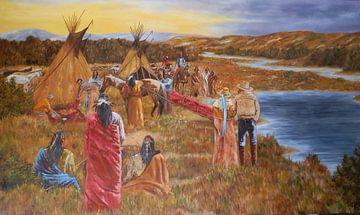 Begrafenis van Shoshone opperhoofd Pocatello von Ricky Smeets