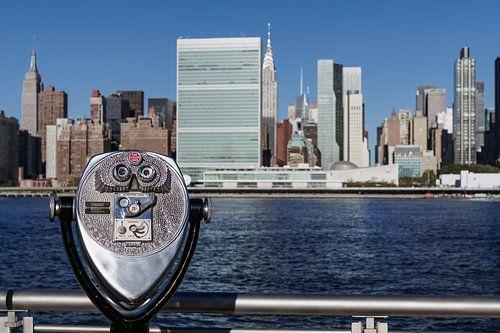 Blick über den  East River nach Mitdown Manhattan