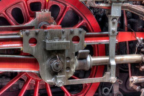 HDR treinwiel stoomlocomotief van