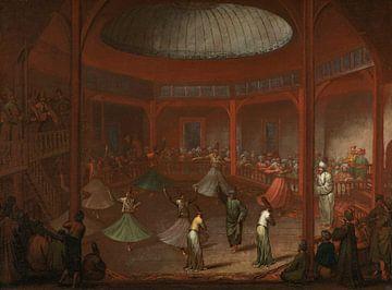 Tanzende Derwische, Jean Baptiste Vanmour, um 1720 - um 1737