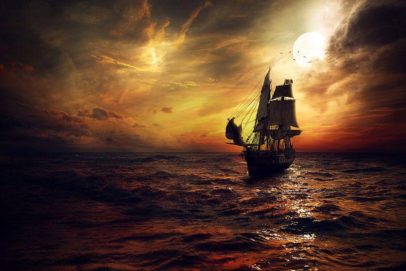 Op koers met een piratenschip van Bert Hooijer